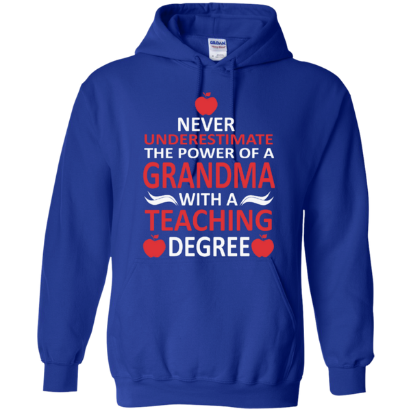 Never Underestimate the Power of a Grandma with a Teaching Degree T-shirt Hoodie - TeachersLoungeShop - 11