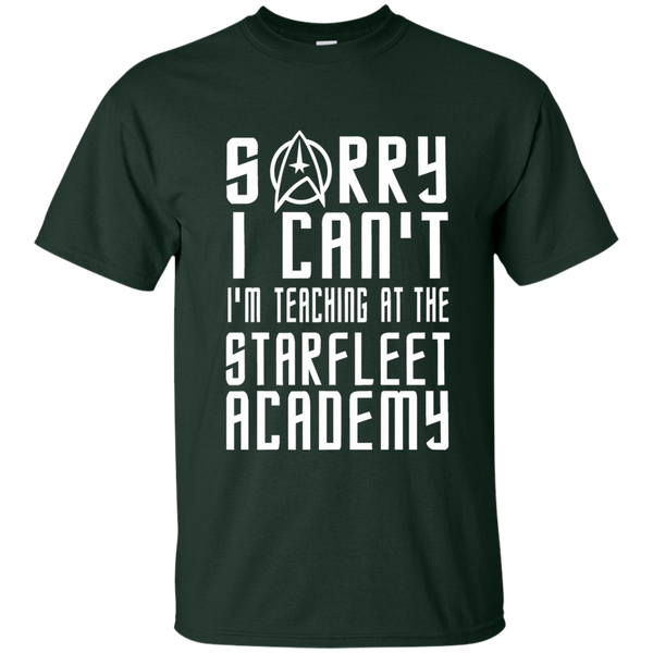 Sorry I Can't I'm Teaching at the Starfleet Academy Cotton T-Shirt - TeachersLoungeShop - 2
