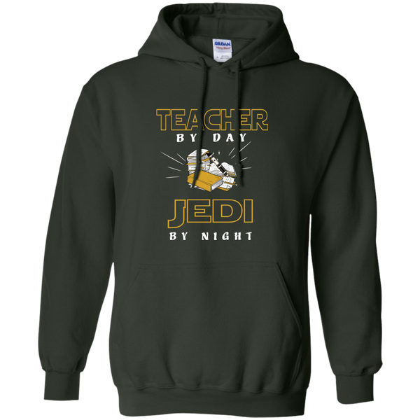 Teacher By Day Jedi By Night Ver2 Pullover Hoodie 8 oz - TeachersLoungeShop - 5