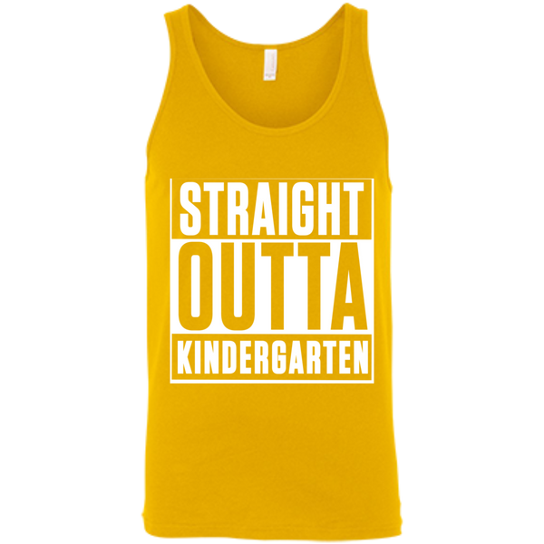 Straight Outta Kindergarten  Bella +Canvas Unisex Tank - TeachersLoungeShop - 4