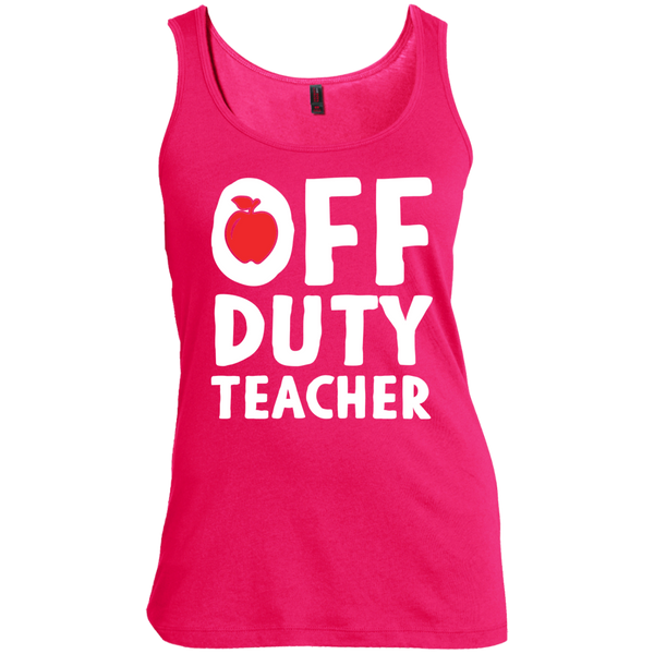 Off Duty Teacher Women's  Scoop Neck Tank Top - TeachersLoungeShop - 4