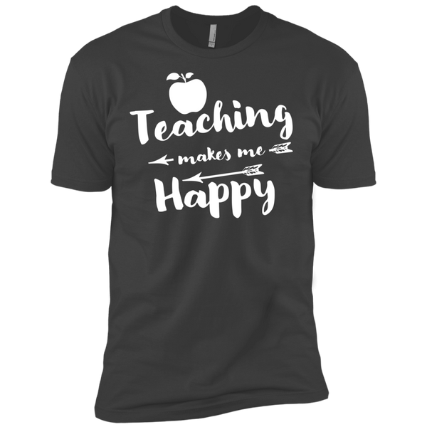 Teaching makes me Happy    Level Premium Short Sleeve Tee - TeachersLoungeShop - 4