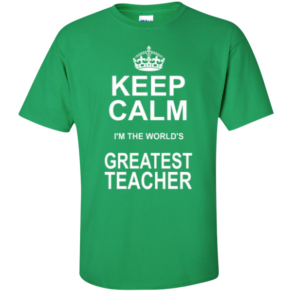 Keep Calm i'm the World's Greatest Teacher T-shirt Hoodie - TeachersLoungeShop - 5