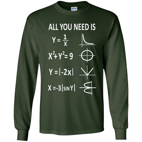All You Need is Love LS Ultra Cotton Tshirt - TeachersLoungeShop - 2
