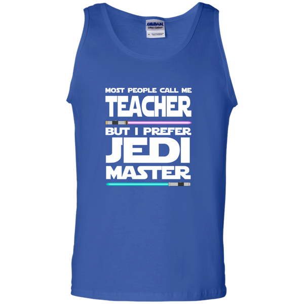 Most People Call Me Teacher But I Prefer Jedi Master 100% Cotton Tank Top - TeachersLoungeShop - 1