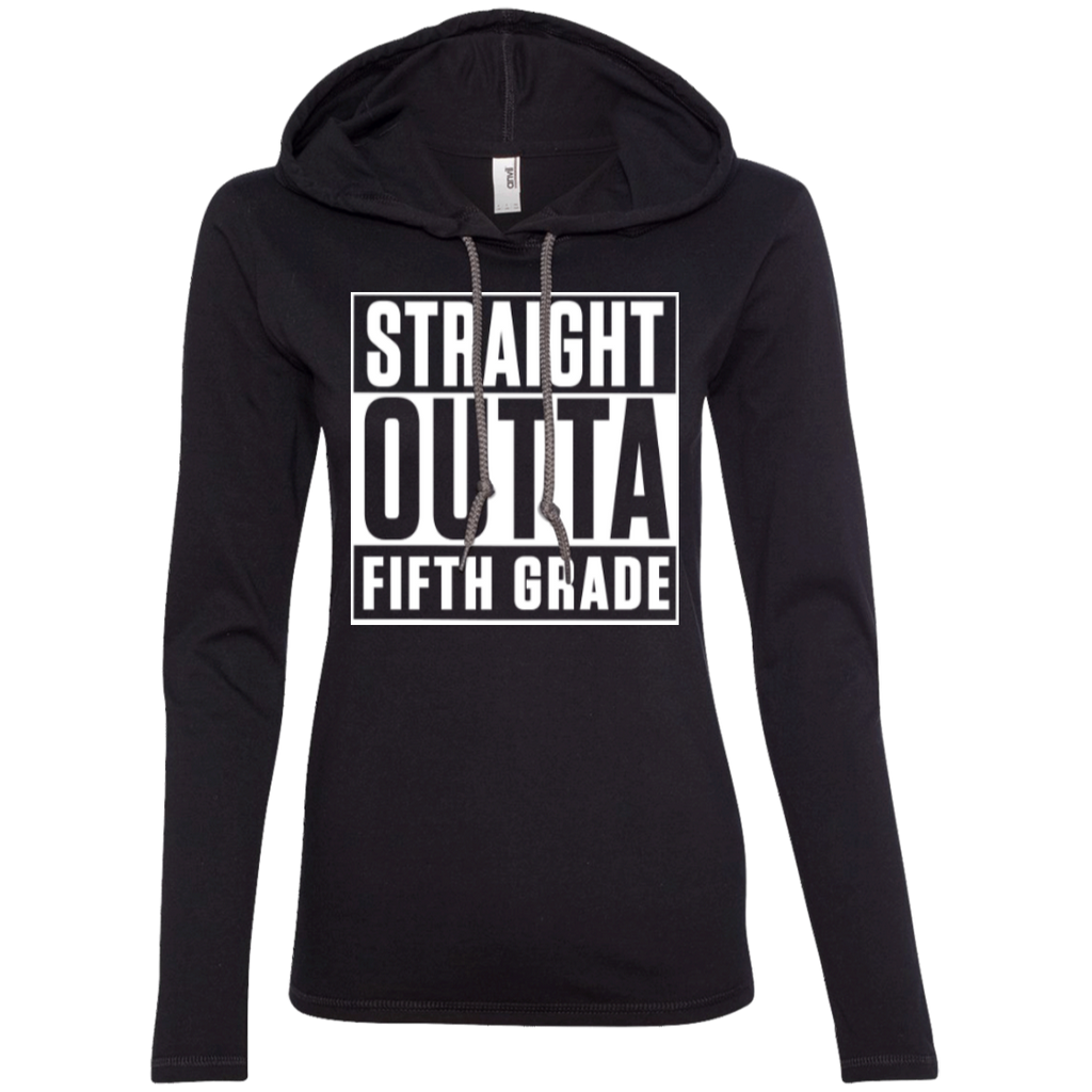 Straight Outta Fifth Grade  LS T-Shirt Hoodie - TeachersLoungeShop - 1