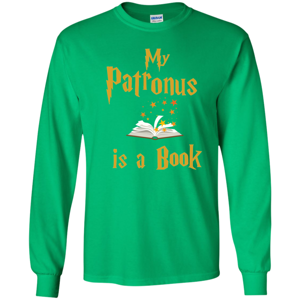 My Patronus is a Book LS Ultra Cotton Tshirt - TeachersLoungeShop - 4