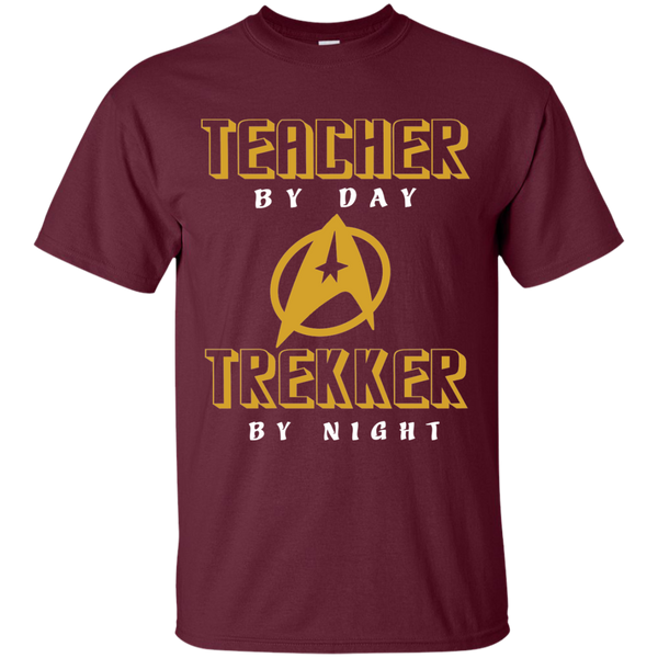 Teacher By Day Trekker By Night Cotton T-Shirt - TeachersLoungeShop - 7