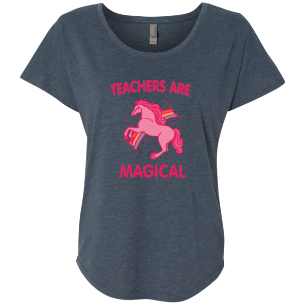 Teachers are Magical Next Level Ladies Triblend Dolman Sleeve - TeachersLoungeShop - 2