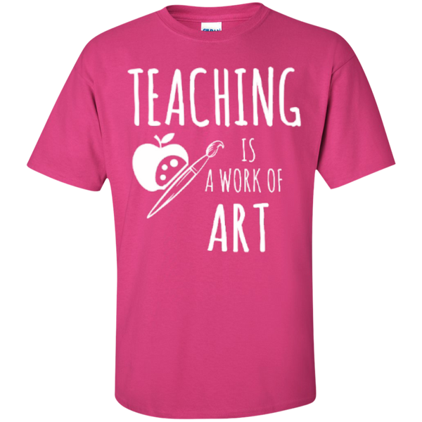 Teaching is a Work of Art Teacher T-shirt Hoodie - TeachersLoungeShop - 4