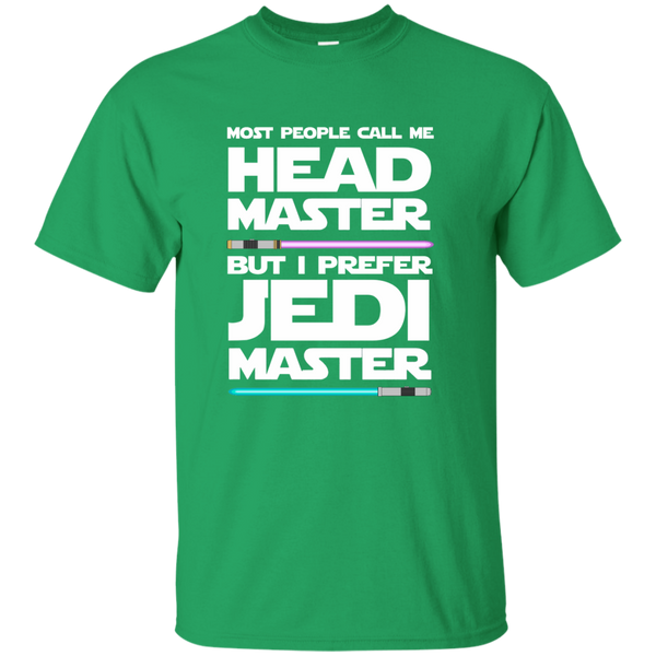 Most People Call Me Head Master But I Prefer Jedi Master Cotton T-Shirt - TeachersLoungeShop - 4
