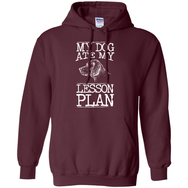 My Dog Ate my Lesson Plan  Hoodie 8 oz - TeachersLoungeShop - 11
