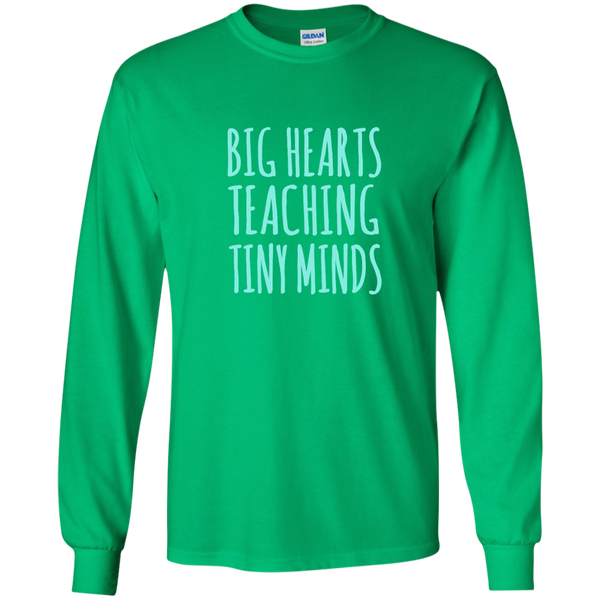 Big Hearts Teaching Tiny Minds LS Ultra Cotton Tshirt - TeachersLoungeShop - 4