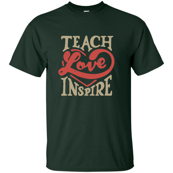Teach Love Inspire Teacher Cotton T-Shirt - TeachersLoungeShop - 2