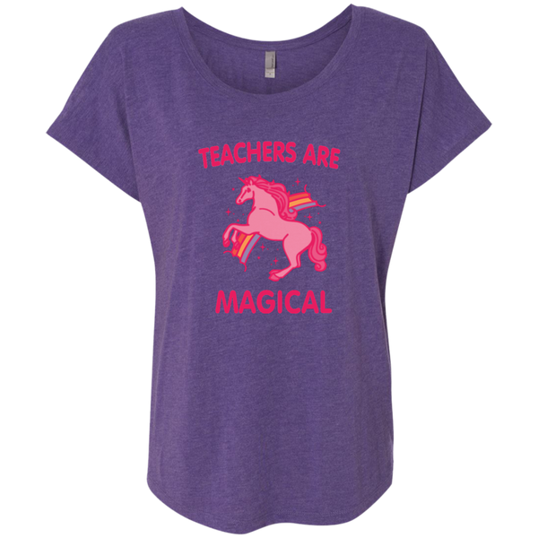 Teachers are Magical Next Level Ladies Triblend Dolman Sleeve - TeachersLoungeShop - 3