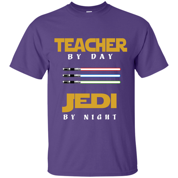 Teacher by Day Jedi by Night Cotton T-Shirt - TeachersLoungeShop - 11