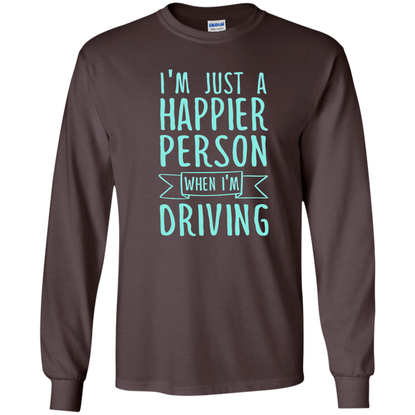 I'm Just a Happier Person When I'm Driving LS Ultra Cotton Tshirt - TeachersLoungeShop - 3