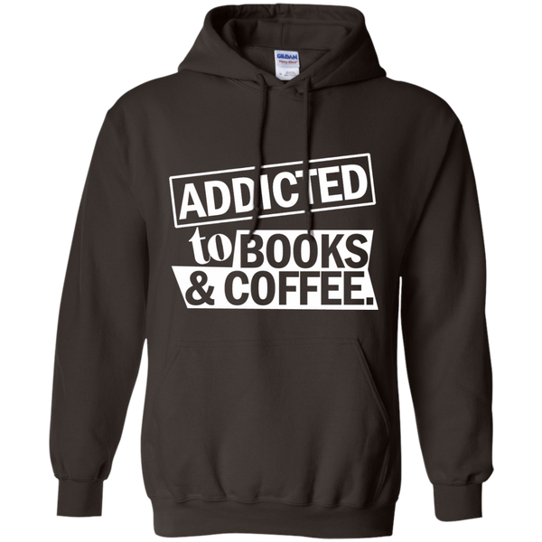 Addicted to Books and Coffee Pullover Hoodie 8 oz - TeachersLoungeShop - 4