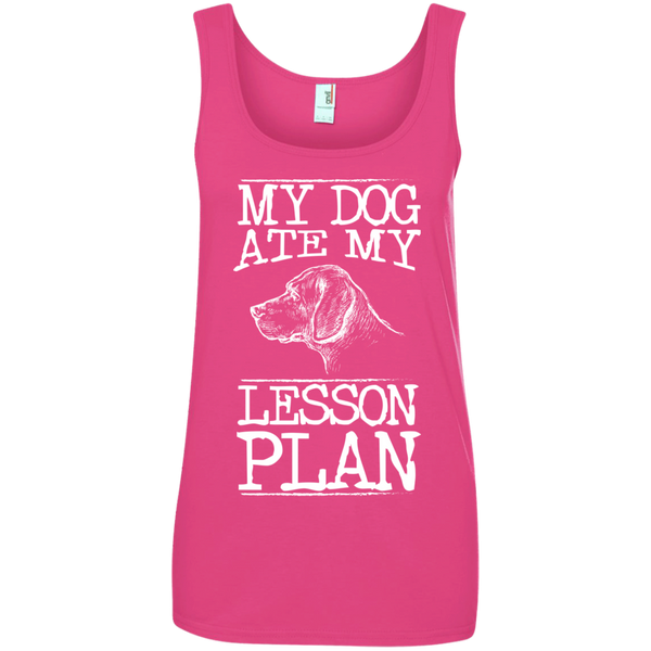 My Dog Ate my Lesson Plan  Ladies  100% Ringspun Cotton Tank Top - TeachersLoungeShop - 2