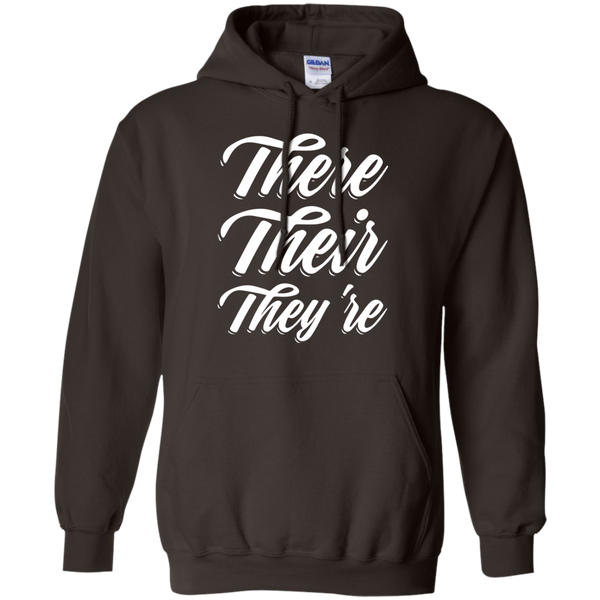 There Their They're Hoodie 8 oz - TeachersLoungeShop - 5