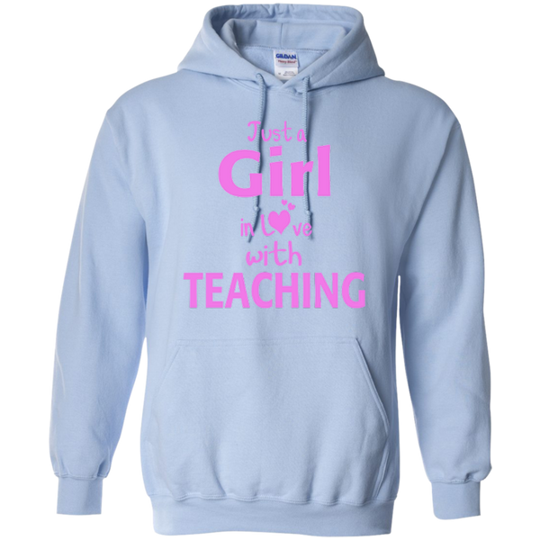 Just a Girl in Love with Teaching T-shirt Hoodie - TeachersLoungeShop - 9