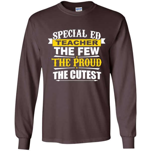 Special Ed Teacher The Few The Proud The Cutest LS Ultra Cotton Tshirt - TeachersLoungeShop - 3