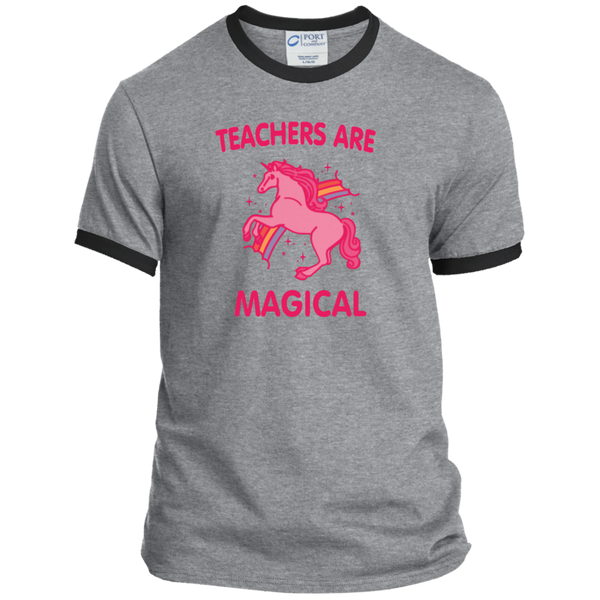 Teachers are Magical Ringer Tee - TeachersLoungeShop - 1