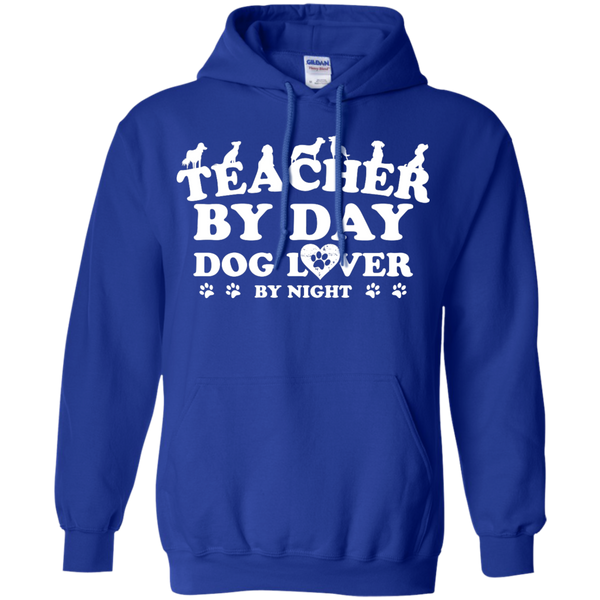 Teacher By Day Dog Lover by Night  Hoodie 8 oz - TeachersLoungeShop - 12