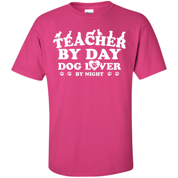 Teacher By Day Dog Lover by Night T-Shirt - TeachersLoungeShop - 11