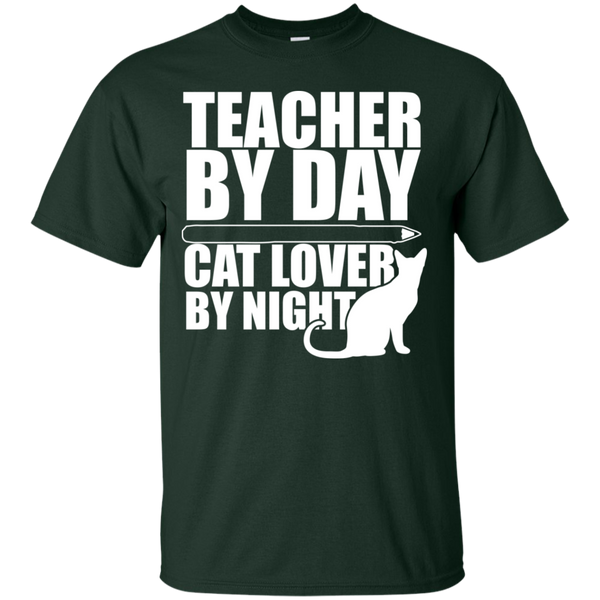 Teacher by Day Cat Lover by Night  T-Shirt - TeachersLoungeShop - 7