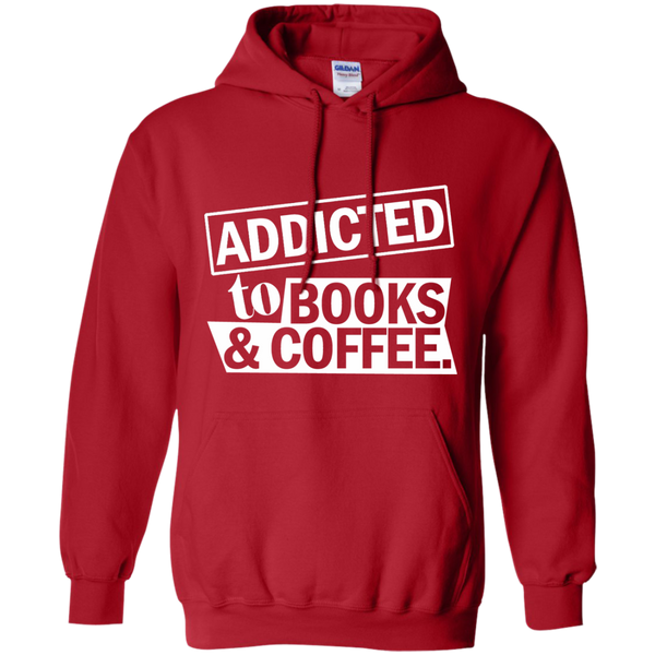 Addicted to Books and Coffee Pullover Hoodie 8 oz - TeachersLoungeShop - 11