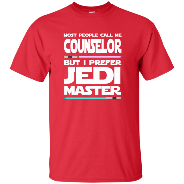 Most People Call Me Counselor But I Prefer Jedi Master Cotton T-Shirt - TeachersLoungeShop - 8