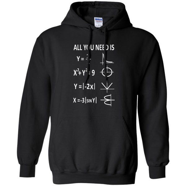 All You Need is Love Pullover Hoodie 8 oz - TeachersLoungeShop - 1