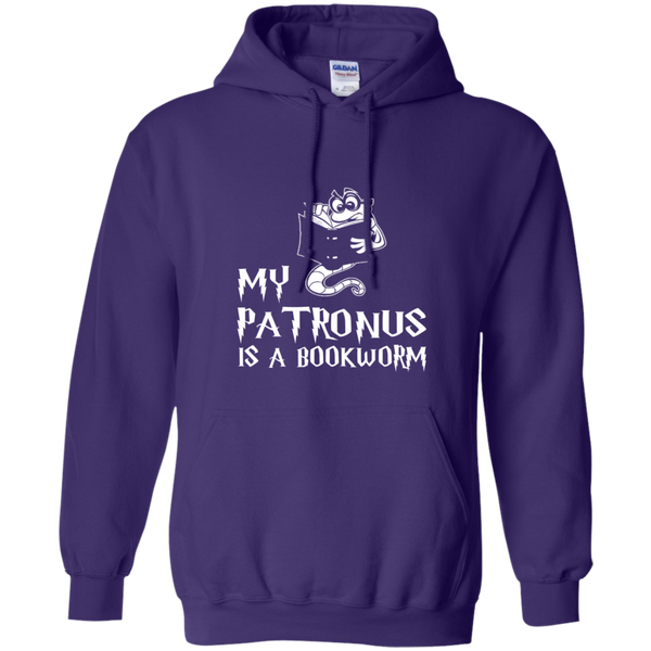 My Patronus is a Book Worm Pullover Hoodie 8 oz - TeachersLoungeShop - 6