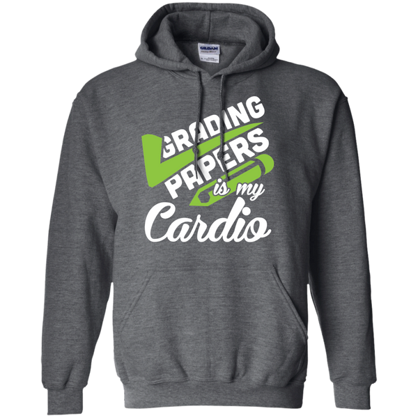 Grading papers is my cardio   Hoodie 8 oz - TeachersLoungeShop - 3