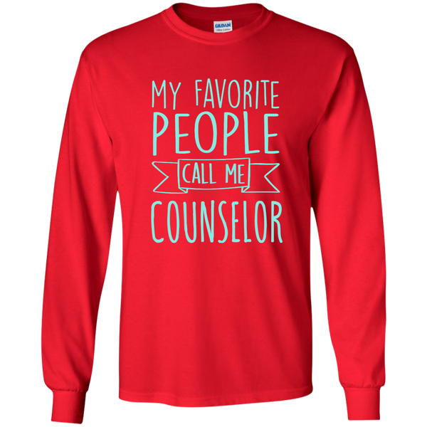 My Favorite People call Me Counselor LS Ultra Cotton Tshirt - TeachersLoungeShop - 6
