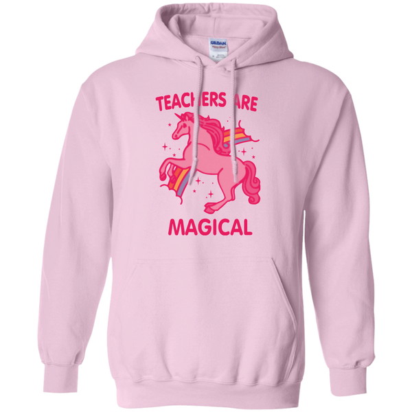 Teachers are Magical Pullover Hoodie 8 oz - TeachersLoungeShop - 1