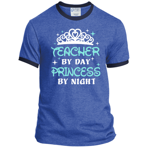 Teacher By Day Princess By Night ver2 Ringer Tee - TeachersLoungeShop - 6