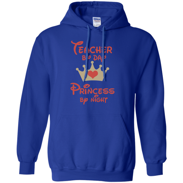 Teacher by Day Princess by Night Pullover Hoodie 8 oz - TeachersLoungeShop - 10