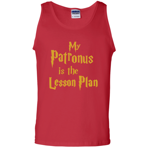 My Patronus is the Lesson Plan 100% Cotton Tank Top - TeachersLoungeShop - 3