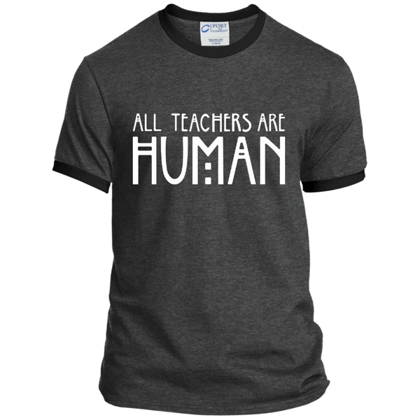 All Teachers Are Human Ringer Tee - TeachersLoungeShop - 3