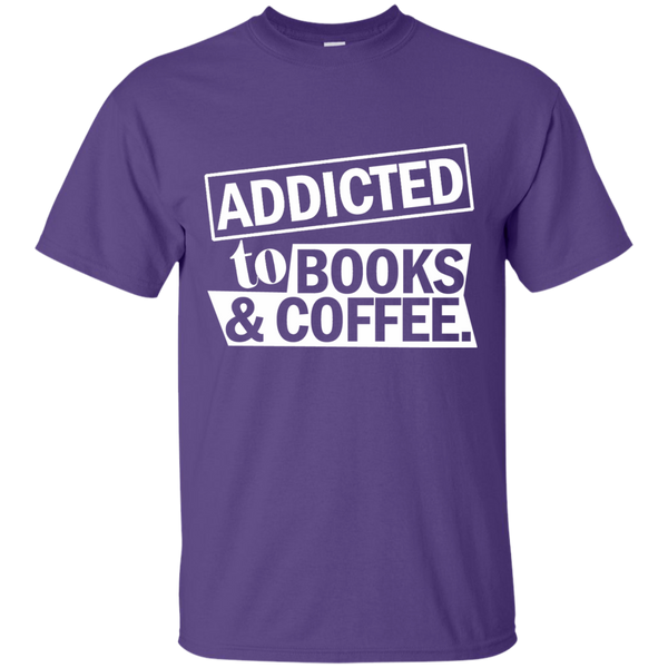 Addicted to Books and Coffee Cotton T-Shirt - TeachersLoungeShop - 11