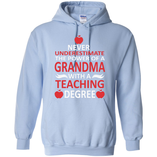 Never Underestimate the Power of a Grandma with a Teaching Degree T-shirt Hoodie - TeachersLoungeShop - 9