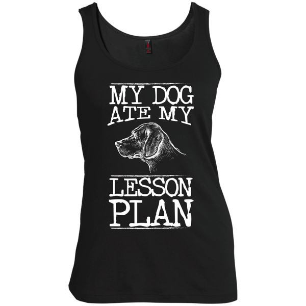 My Dog Ate my Lesson Plan   Scoop Neck Tank Top - TeachersLoungeShop - 3