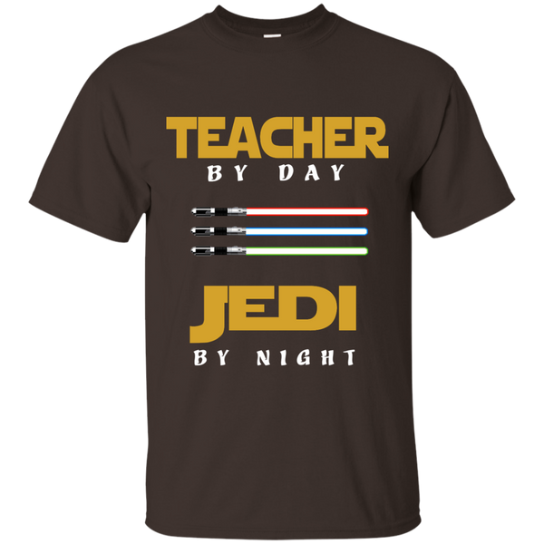 Teacher by Day Jedi by Night Cotton T-Shirt - TeachersLoungeShop - 3