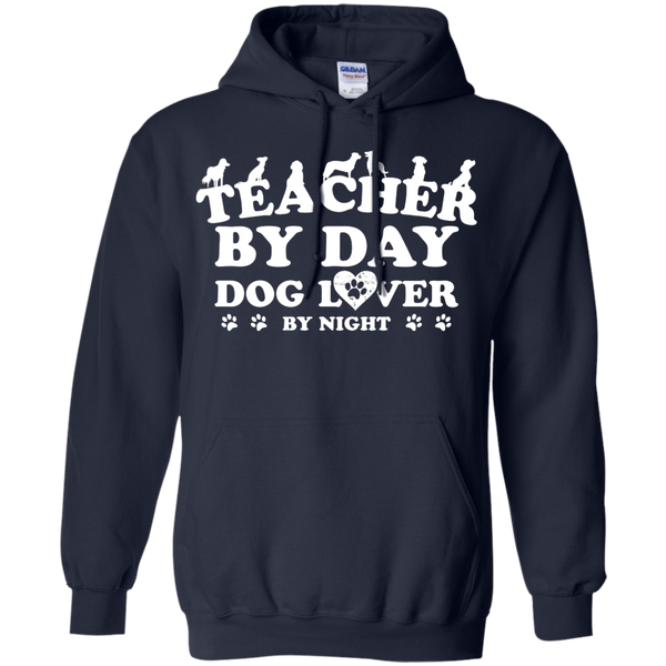 Teacher By Day Dog Lover by Night  Hoodie 8 oz - TeachersLoungeShop - 2