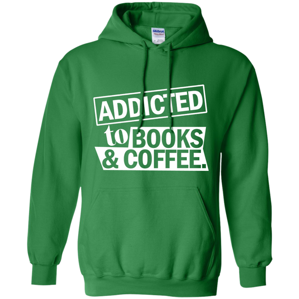 Addicted to Books and Coffee Pullover Hoodie 8 oz - TeachersLoungeShop - 7