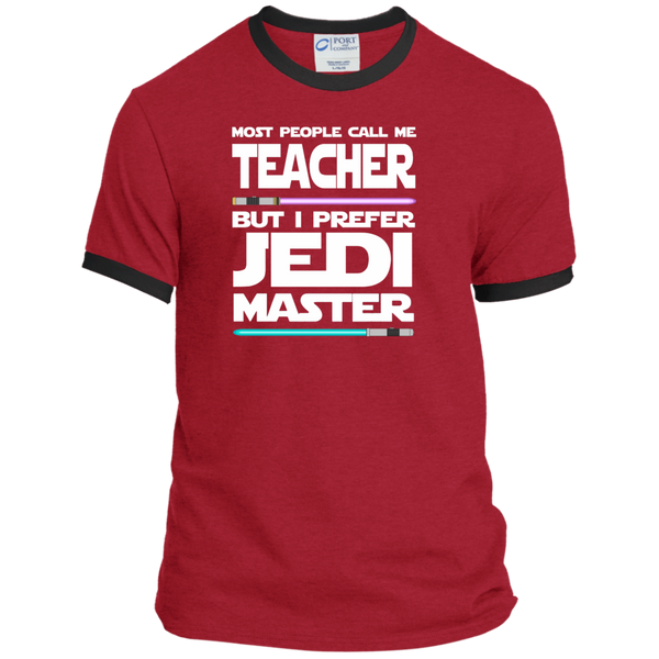 Most People Call Me Teacher But I Prefer Jedi Master Ringer Tee - TeachersLoungeShop - 7