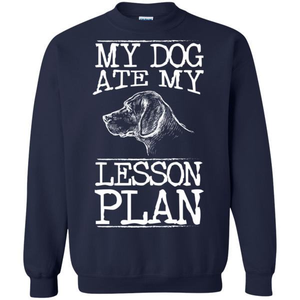 My Dog Ate my Lesson Plan Crewneck Pullover Sweatshirt  8 oz - TeachersLoungeShop - 3