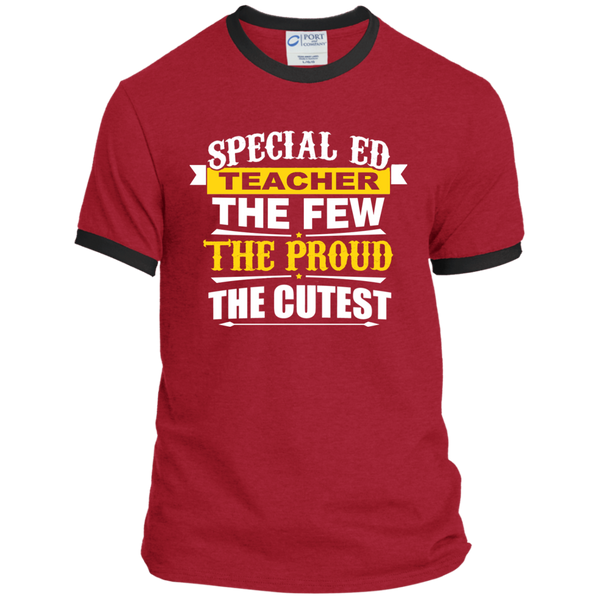 Special Ed Teacher The Few The Proud The Cutest Ringer Tee - TeachersLoungeShop - 6